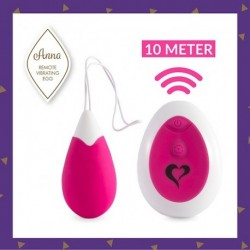 Anna Vibrating Egg Remote Deep Pink
